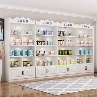 展示柜化妆品美容美发店护肤品展柜陈列柜美甲店货柜展架超市货架