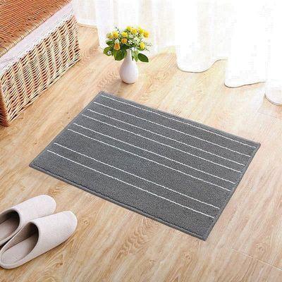 【亏本促销】圈绒条纹地垫不卡门缝超强吸水防滑垫子卫生间脚垫子