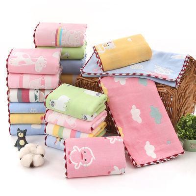 纯棉六层 儿童成人毛巾幼儿园婴儿宝宝洗脸小方巾小毛巾 柔软吸水