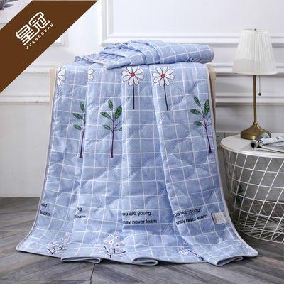 皇冠【特价】水洗棉夏被空调被夏凉被单双人可机洗简约夏天薄被子