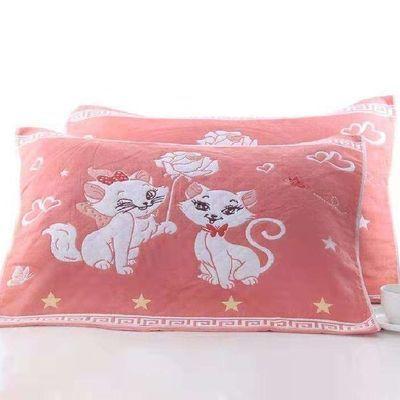 【枕巾纯棉一对】全棉成人枕头巾包邮52×78加大纯棉纱布枕巾批发