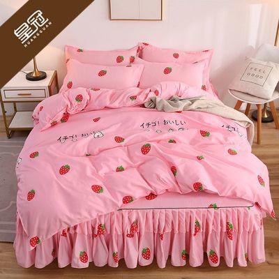 公主风床裙款四件套床套床单床罩被套200x230米学生宿舍床上用品