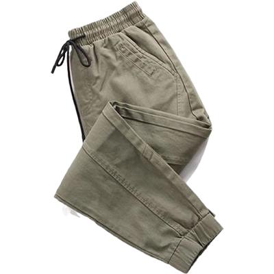 新款日系复古工装裤女大码胖mm束脚裤bf风嘻哈宽松军绿色学生休闲
