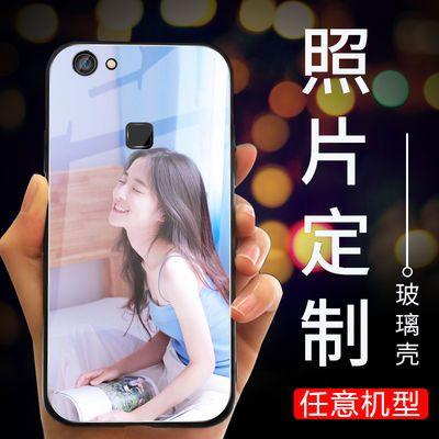 vivox6手机壳来图定制x6plus玻璃照片订制x7个性x7plus定做x9plus