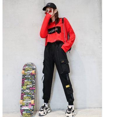 新款夏季嘻哈工装运动衣服减龄套装女特色潮牌时尚潮流休闲两件套