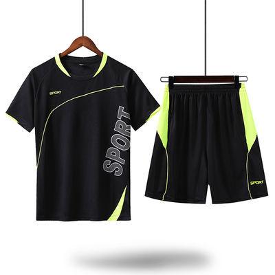 新款男装秋冬运动套装男短裤两件套男士短袖t恤运动服休闲裤宽松