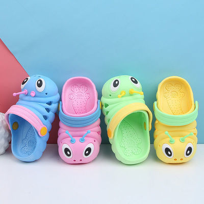 夏季新款儿童凉拖鞋毛毛虫男女童防滑儿童花园洞洞鞋沙滩凉鞋家居