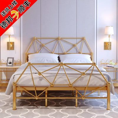 床铁床现代简约铁艺床双人床北欧单人床铁架床公主床架