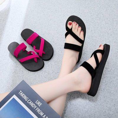 拖鞋女人字拖女夏新款凉鞋网红沙滩女士鞋子女学生时尚韩版外穿凉