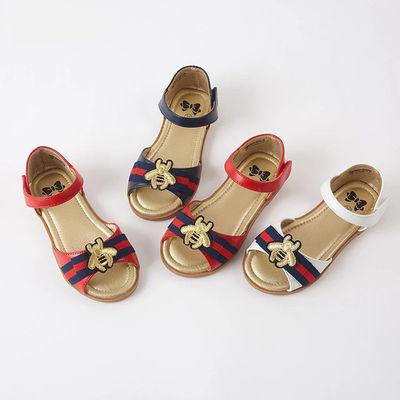 儿童鞋子小女孩凉鞋新款3岁女童夏季款4平底5软底6宝宝凉鞋公主鞋