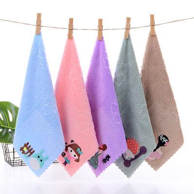 珊瑚绒儿童成人毛巾洗脸巾比纯棉柔软宝宝幼儿园小毛巾方巾口水巾