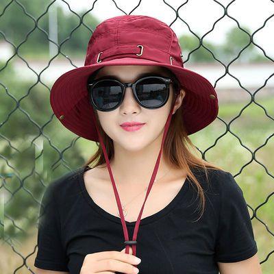 帽子女夏天新款防晒帽圆脸百搭ins休闲洋气潮流户外遮阳帽登山帽