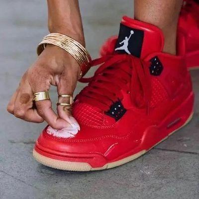 头层牛皮高品质aj4刮刮乐篮球鞋大红色实战运动篮球鞋运动休闲鞋