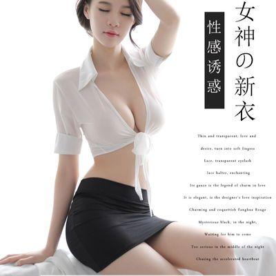 全程保密发货。。新款情趣内衣透制服诱惑性感短裙秘书水手服空姐服套装1015