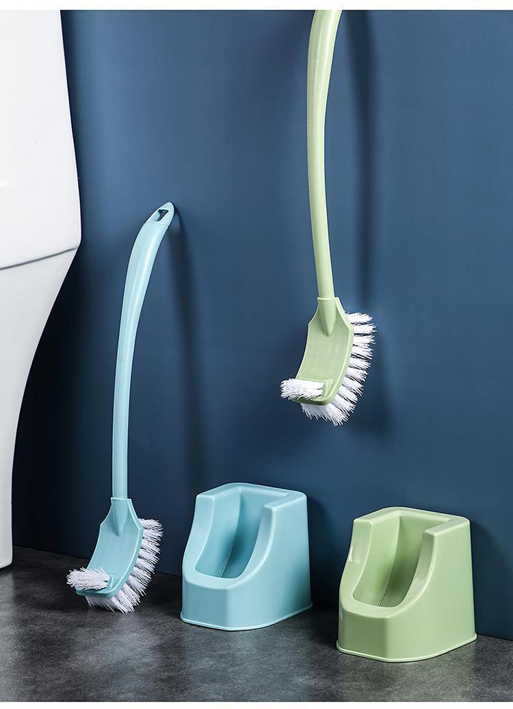【48小时内发货】双面加厚长柄去.死角马桶刷厕所刷子卫生间清洁刷缝隙刷家用套装