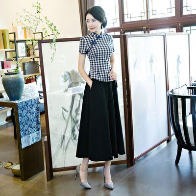 冯程程演出服装女上海滩民国 复古青年女学生装 班服表演工装套装