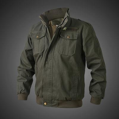 工作服上衣男士加厚电焊工装耐磨帆布汽修春秋季长袖多口袋劳保服