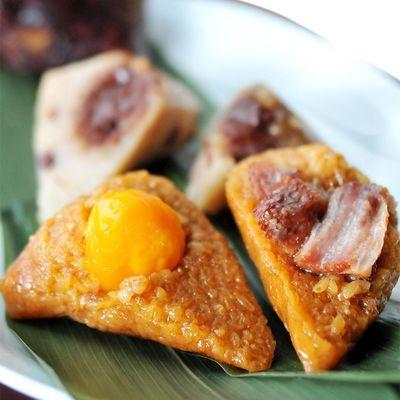 嘉兴粽子肉粽6-15只*170g蛋黄肉粽大鲜肉粽豆沙蜜枣零食批发早餐