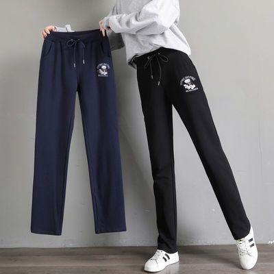 纯棉宽松运动休闲裤子女士学生韩版直筒薄款卫裤2020春夏季大码裤