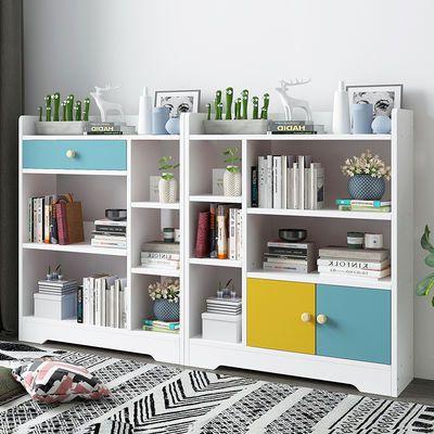 书架简易落地书柜客厅置物架现代简约收纳储物架创意书房储物柜子