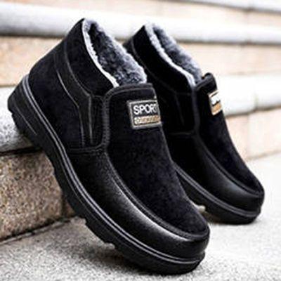 冬季必备老北京中老年加绒加厚防滑保暖厚底高腰男士版雪地大棉鞋