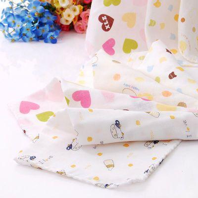 【买2包送5条】10条装 纯棉纱布口水巾婴儿洗脸巾新生儿围嘴手绢
