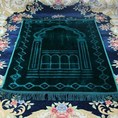 穆斯林礼拜毯法兰绒加厚礼拜毯回族阿拉伯风格祈祷垫子朝觐礼品包