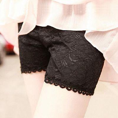格格家 夏季性感挂脖蕾丝抹胸+镂空防晒外套+高腰短裤三件套9192