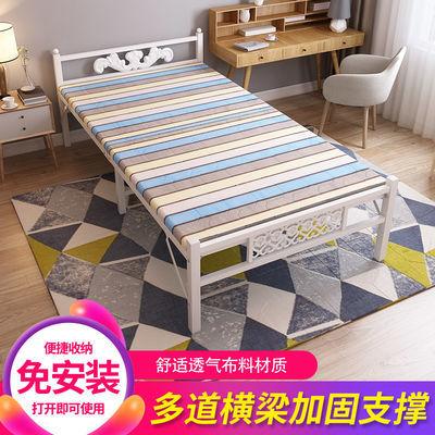 折叠床单人床双人床铁床午休可简易儿童成人出租屋家用床铺木板床
