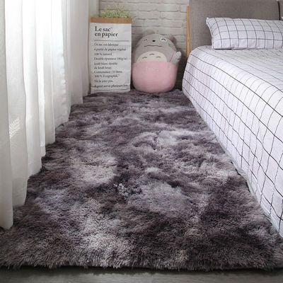 地毯卧室ins北欧风家用房间满铺可爱小长毛绒床边毯客厅茶几地垫