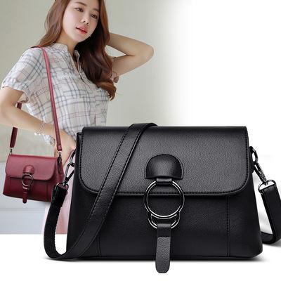 包包女2020新款韩版百搭软皮单肩斜挎包大容量中年女包时尚妈妈包