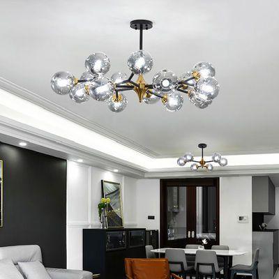客厅吊灯北欧轻奢风格分子客厅灯具现代简约创意魔豆卧室灯饰网红