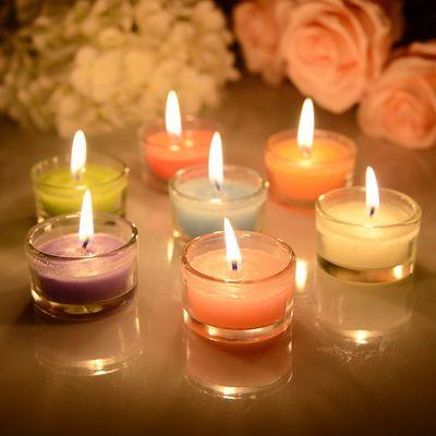 香薰蜡烛雪花蜡烛迷你香薰小玻璃杯蜡烛摆图浪漫家居酒店生日浪漫