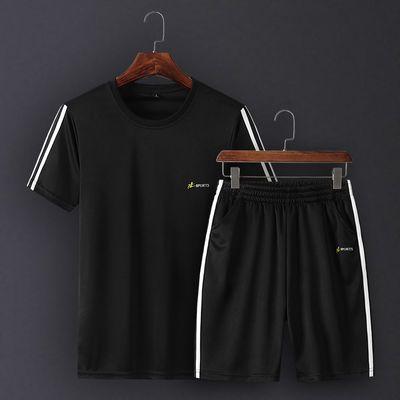 【优质店铺】富贵鸟夏季短袖休闲套装男卫衣套装运动套装两件套DD