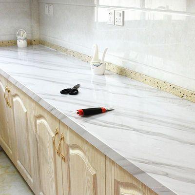 加厚大理石厨房防油贴纸耐高温防水灶台桌面橱柜翻新墙贴壁纸自粘