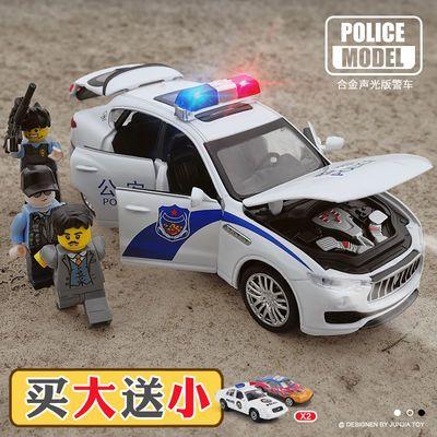 儿童警车玩具合金回力小汽车男孩110警察车儿童玩具车模型仿真大