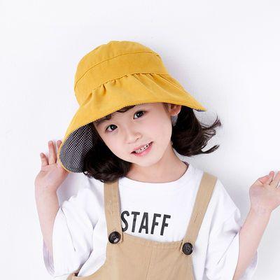 儿童遮阳帽太阳帽防晒亲子渔夫帽子夏季薄款宝宝韩版女童空顶帽子