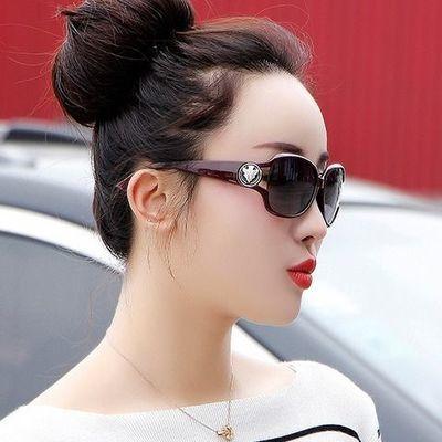 新款太阳镜女墨镜女士眼镜圆脸大框时尚韩版偏光防紫外线复古墨镜