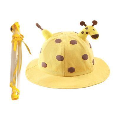 婴儿防飞沫帽子春夏款宝宝外出防护遮脸卡通可爱萌儿童隔离渔夫帽