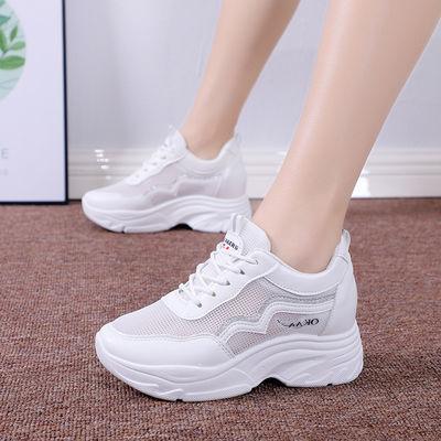 2020新款百搭厚底运动小白鞋女学生夏季韩版内增高女鞋休闲老爹鞋