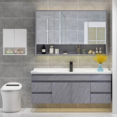 实木洗手盆柜组合卫生间洗脸盆柜家用浴室柜台盆脸池卫浴柜带镜子