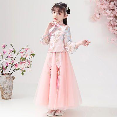 女童汉服古装超仙儿童旗袍连衣裙春秋洋气公主裙春装礼服夏款裙子