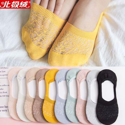 袜子女夏季薄款隐形袜船袜硅胶防滑网眼透气浅口女袜棉质韩版短袜