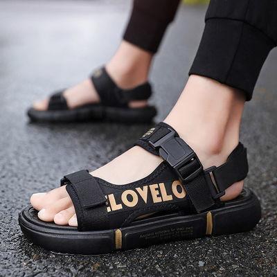 防滑凉鞋男韩版个性沙滩鞋大码夏季新款凉拖潮流休闲学生透气拖鞋