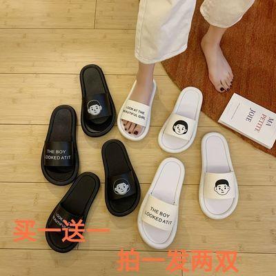 【买一送一】ins拖鞋韩版网红情侣拖鞋女夏外穿学生家用室内防滑a