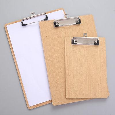 网红平夹木质纸质文件夹商务办公用文件夹板A416K32K带挂钩写字板