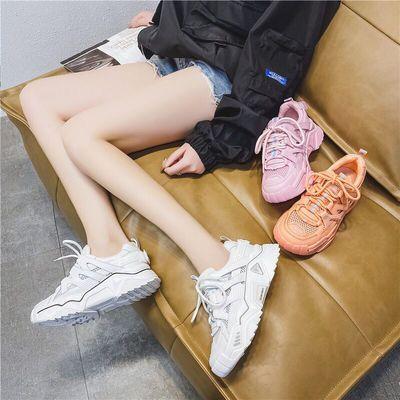 春夏季新款镂空防水台运动鞋户外锻炼老爹鞋百搭休闲ins潮鞋女款