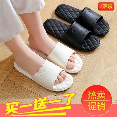 买一送一凉拖鞋女学生韩版夏季家用防滑浴室洗澡软底情侣凉拖鞋男