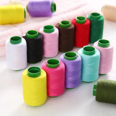 302家用宝塔线缝纫机缝衣线针线203黑线棉线粗