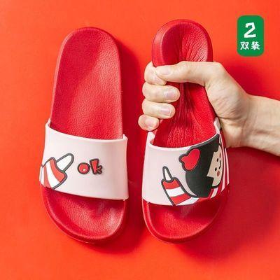 买一送一拖鞋女夏网红家用防滑外穿男士浴室情侣家居凉拖鞋夏天